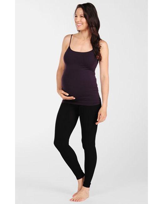Tees by Tina | Black Micro Rib Maternity Leggings | Lyst