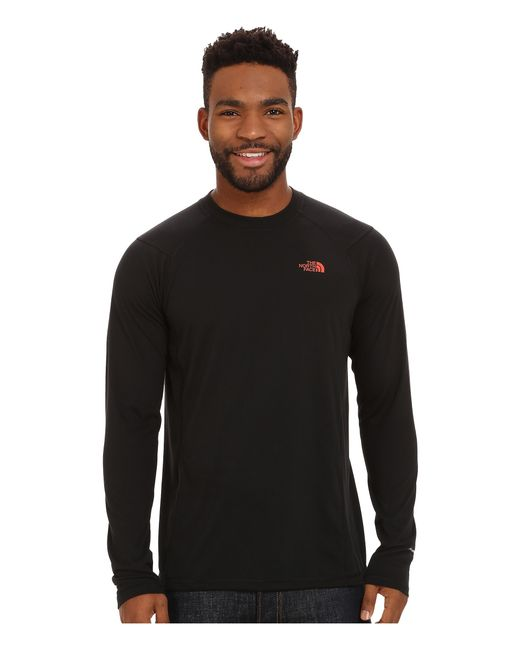 The North Face | Black Long Sleeve Flashdry™ Crew for Men | Lyst