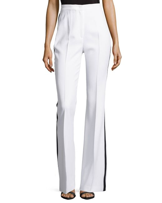 Michael Kors | White Flared Tuxedo Trousers | Lyst