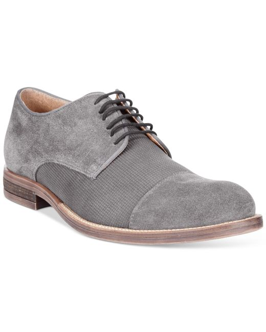 alfani s eric cap toe oxfords only at macy s in gray