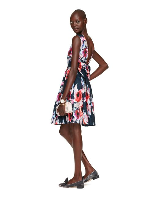 kate spade new york | Multicolor Hazy Floral Bow Back Dress | Lyst