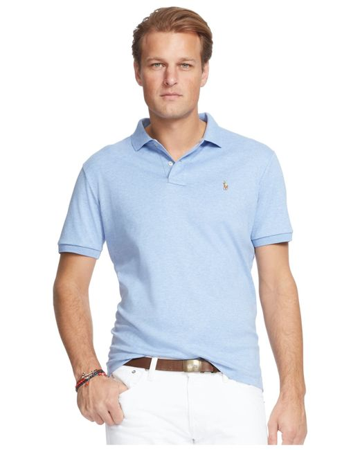 Polo ralph lauren men 39 s big and tall pima soft touch polo for Cobalt blue polo shirt