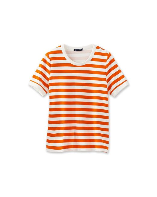 Petit Bateau | Red Women's Striped Shirt | Lyst