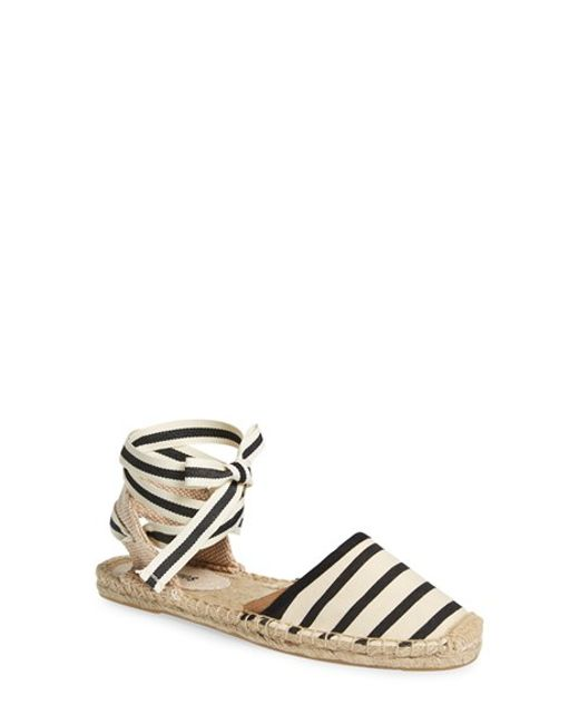 Soludos   Natural Lace-up Espadrille Sandal   Lyst