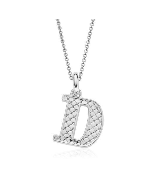 Monica Vinader | Metallic Alphabet Pendant D | Lyst