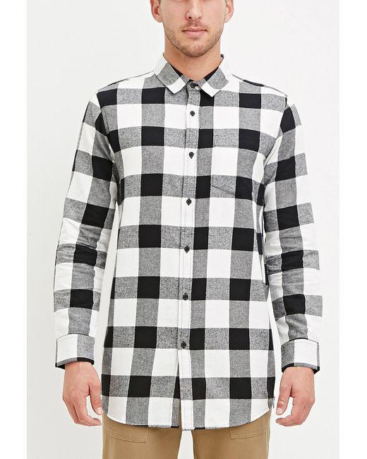 Forever 21 Buffalo Plaid Shirt In Black For Men White
