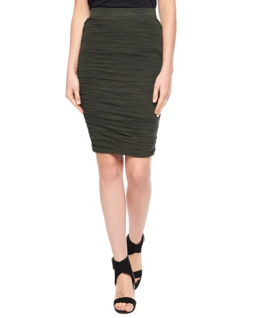 Splendid | Green Light Jersey Shirred Skirt | Lyst