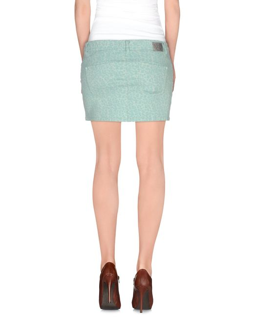 gaudi denim skirt in green lyst