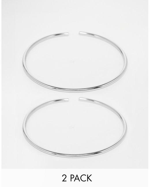ASOS | Metallic Pack Of 2 Fine Arm Cuffs | Lyst