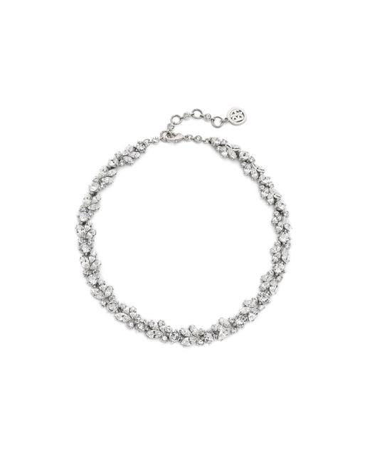 Ben-Amun   Metallic Crystal Wreath Necklace   Lyst