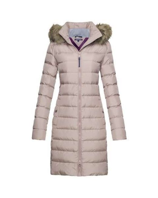 tommy hilfiger tyra down coat in pink save 50 lyst. Black Bedroom Furniture Sets. Home Design Ideas