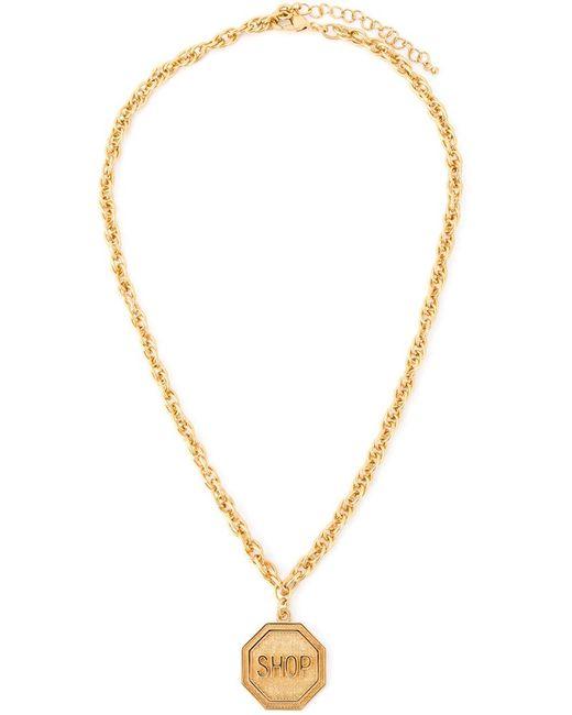 Moschino | Metallic Shop Medallion Necklace | Lyst