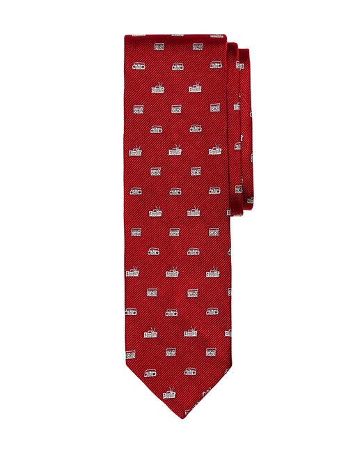 Brooks Brothers   Red Radio Slim Tie for Men   Lyst