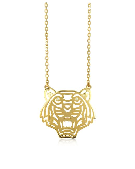 KENZO | Metallic Gold Plated Tiger Necklace | Lyst