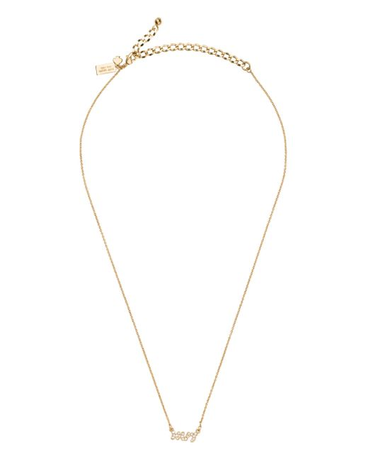 Kate Spade | Metallic Say Yes Pave Mrs Necklace | Lyst