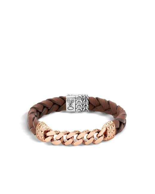 John Hardy   Brown Classic Chain Station Bracelet for Men   Lyst
