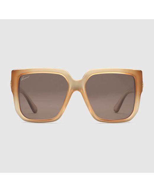 3e420cf4c5 Gucci Oversized Square Sunglasses