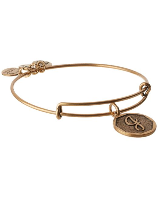 ALEX AND ANI | Metallic Initial J Charm Bangle | Lyst