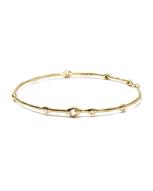 Ippolita | Metallic 18k Gold 9-diamond Bangle (0.5ctw) | Lyst