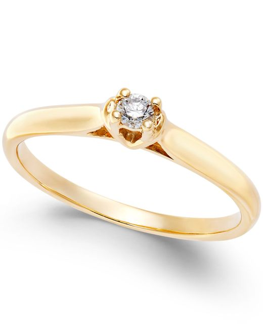 macy s promise ring in 10k white or yellow gold 1