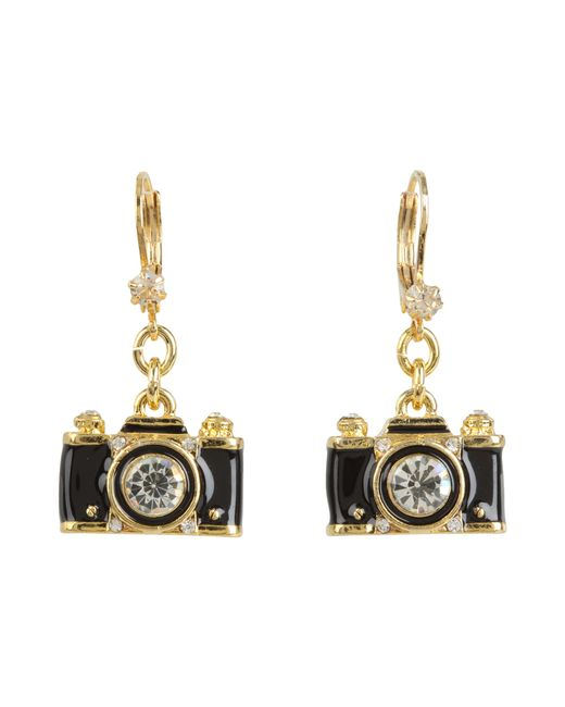Betsey Johnson | Metallic Royal Engagement Camera Stud Earrings | Lyst