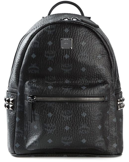 MCM | Black Stark Side Stud Medium Backpack | Lyst
