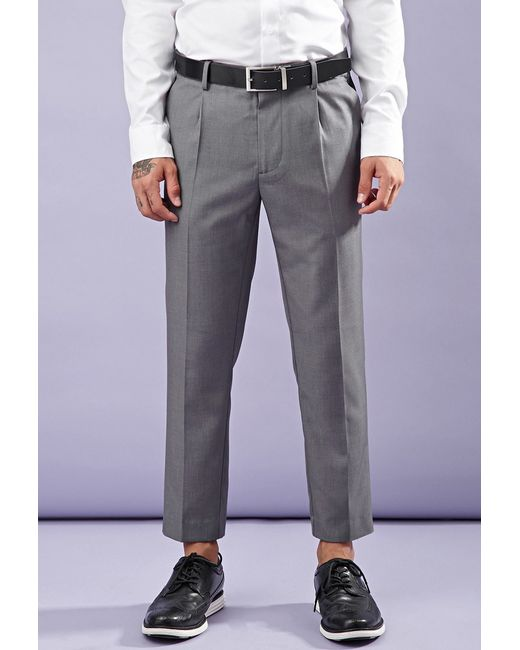 Forever 21 | Gray Creased Trousers for Men | Lyst