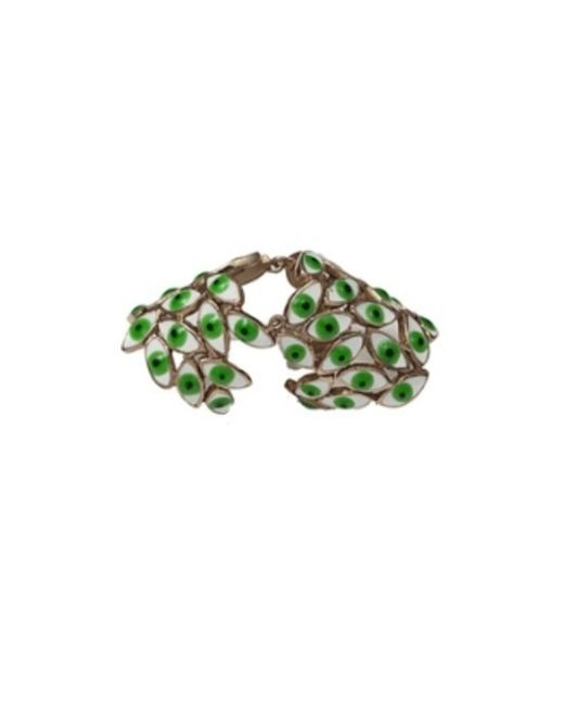 Bernard Delettrez | Metallic Articulated Bronze Ring With Green Eyes | Lyst