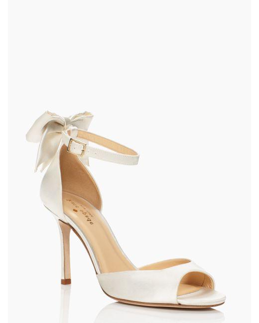 kate spade new york | White Izzie Heels | Lyst