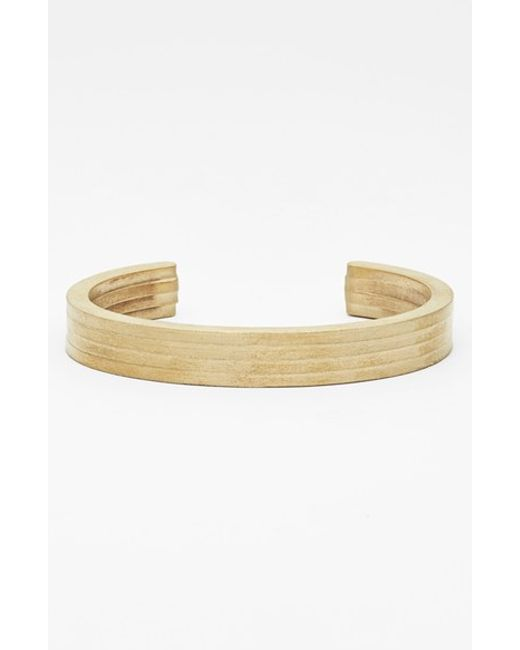 Miansai | Metallic Layered Brass Cuff Bracelet for Men | Lyst