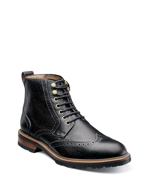 Florsheim | Black 'kilbourn' Wingtip Boot for Men | Lyst