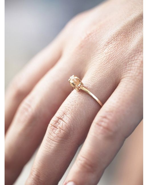Free People | Yellow Rough Diamond Ring | Lyst