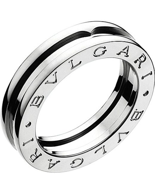 BVLGARI | Metallic B.zero1 One-band 18ct White-gold Ring | Lyst