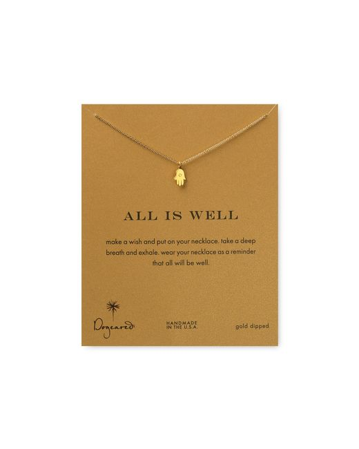 Dogeared | Metallic Gold Plated Best Friend Infinity Necklace | Lyst