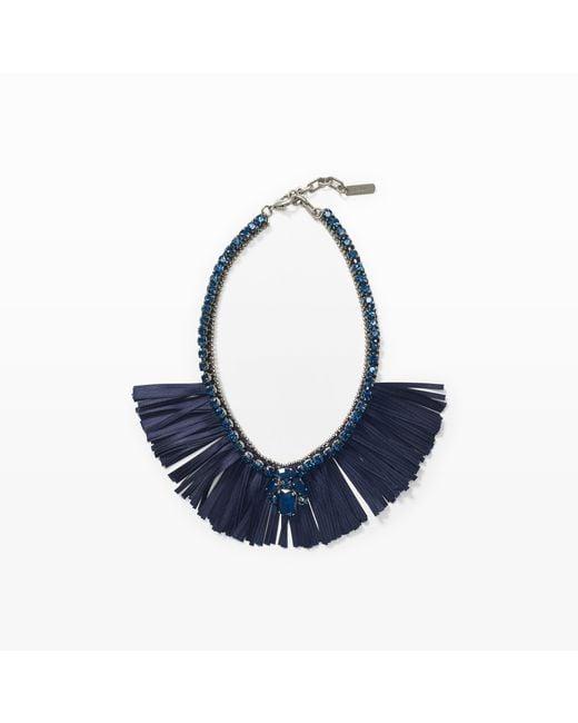 Club Monaco | Blue Radà Nina Ribbon Necklace | Lyst