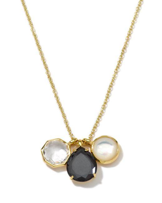 Ippolita | Black 18k Gelata 3-charm Gemstone Pendant Necklace | Lyst