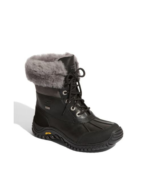 Ugg | Black Adirondack Boot Ii Women Round Toe Leather Snow Boot | Lyst