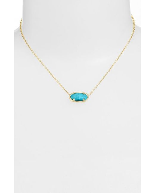 Kendra Scott | Blue 'elisa' Pendant Necklace | Lyst