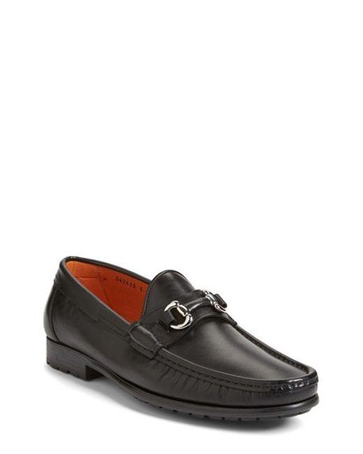 Santoni | Black 'sam' Bit Loafer for Men | Lyst