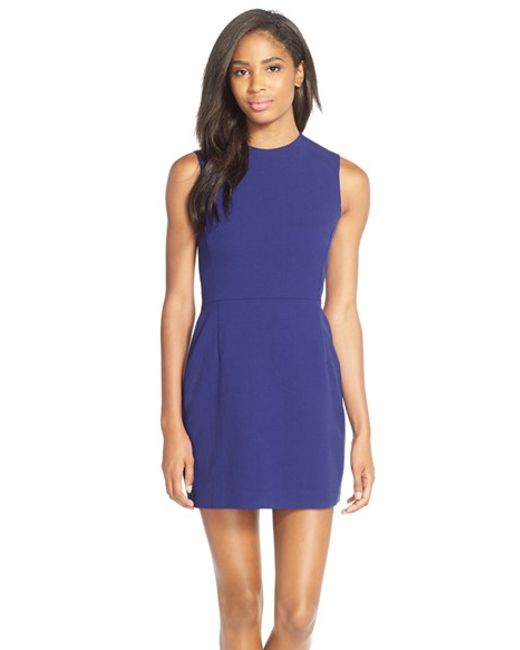 French Connection | Blue 'sundae' Stretch Minidress | Lyst