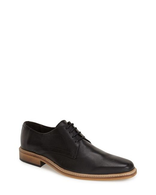 Dune | Black 'rotterdam' Plain Toe Derby for Men | Lyst