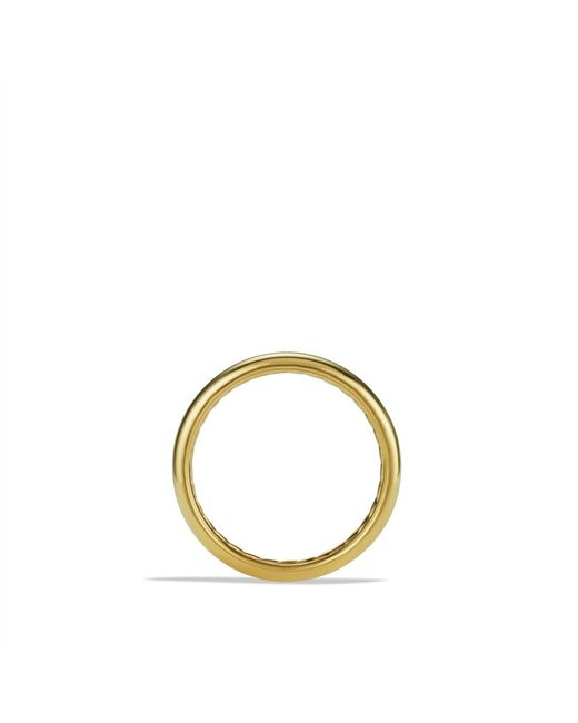 David Yurman | Metallic Dy Eden Smooth Wedding Band In 18k Gold, 2mm | Lyst