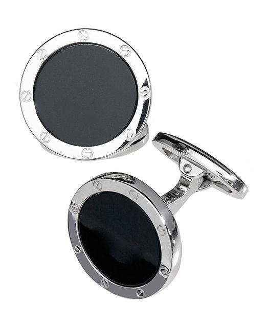 Jan leslie Rnd Onyx W/ Silver Screws in Black for Men | Lyst