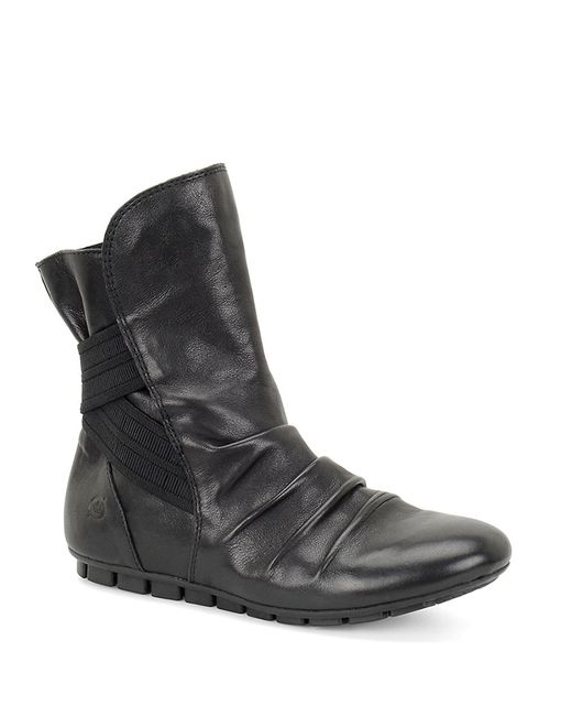 born dulcie leather mid calf boots in black save 30 lyst