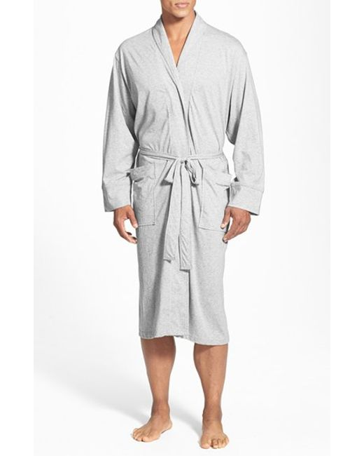 Daniel Buchler | Gray Peruvian Pima Cotton Robe for Men | Lyst