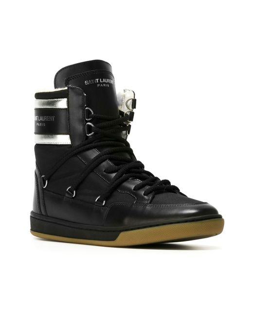 saint laurent 39 california ski 39 sneakers in black lyst. Black Bedroom Furniture Sets. Home Design Ideas