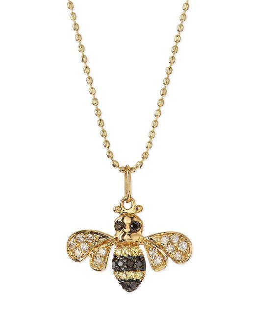 Sydney Evan   Metallic 14k Gold Diamond Bee Pendant Necklace   Lyst