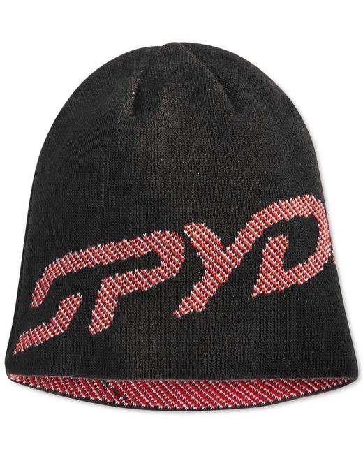 Spyder | Black Reversible Birdseye-stitched Logo Beanie for Men | Lyst