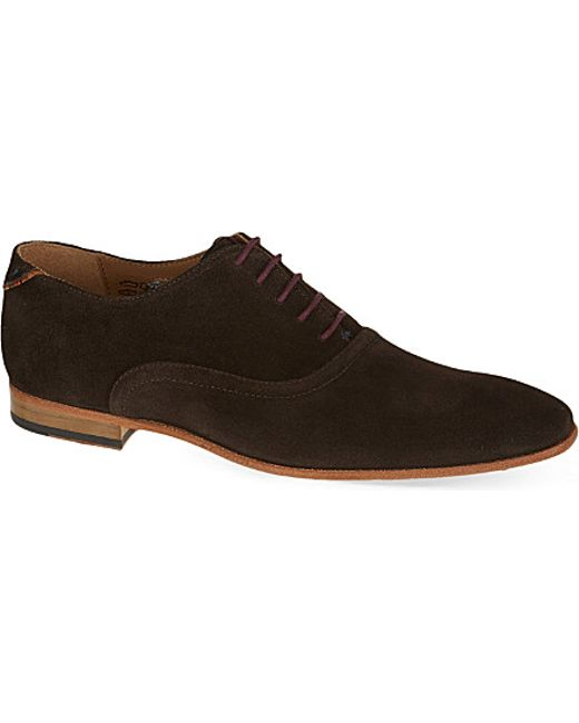 Ps Paul Smith Starling Suede Oxford Shoes