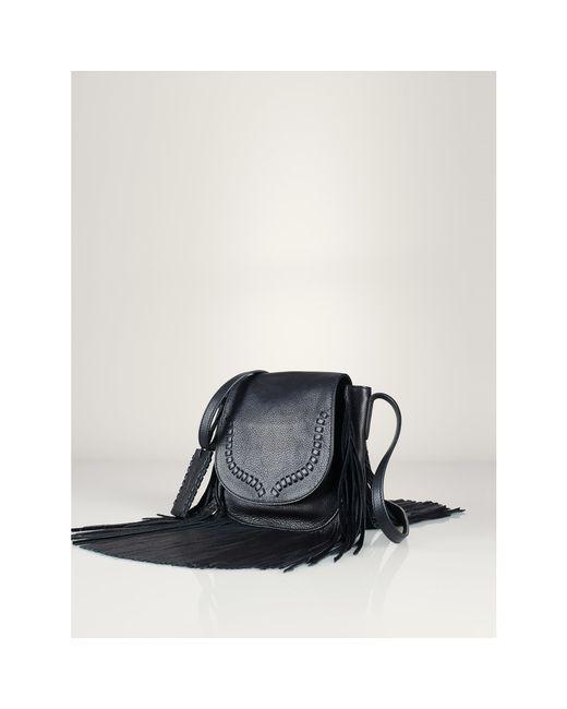 Polo Ralph Lauren | Black Fringed Leather Cross-body Bag | Lyst